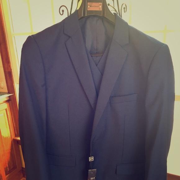 braveman Other - Braveman 3-Piece Slim Fit Suit 44R 38W